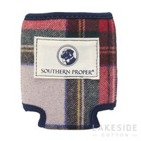 Wool Coozie in Red Plaid | Lakeside Cotton