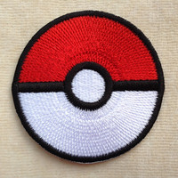 Pokeball Storing Pokemon Iron On Patch