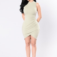 Picture Perfect Dress - Sage