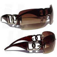 Womens Ladies Designer Cool DG Eyewear Shades Brown Oversize Fashion Sunglasses
