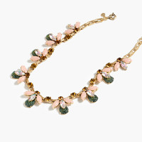 Crystal firefly necklace