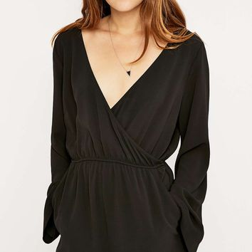 Pins & Needles Sleeved Wrap Playsuit - Urban Outfitters