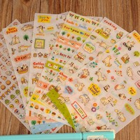 DCCKL72 Play Cat Diary Stickers Pack Post it Kawaii Planner Scrapbooking Sticky Memo Sticker Stationery Escolar 2016 New School Supplies