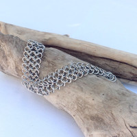 Stainless Steel Chainmaille Bracelet - Ready to Ship - Fast Shipping