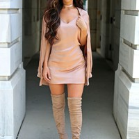 Missguided - Carli Bybel Silky Cami Dress Pink