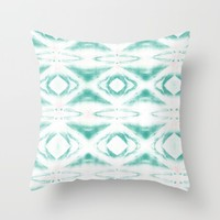 BOHEMIAN MINT PATTERN Throw Pillow by Nika