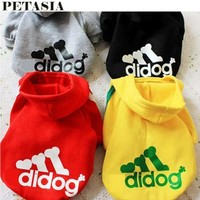 PETASIA 2017 New Fashion Pet Product Dog Cat Clothes Hoodies Coat with Hat 6 Color  XS-XXL Summer Spring Winter Cotton Dress