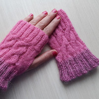 pink,angora,Knitted gloves, hand knitted, knitted, gloves,Big sale, coupon kode:  NOELSALE