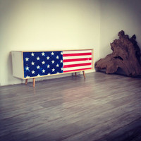 American Flag Mid Century Console