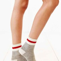 Perfect Stripe Crew Sock- Grey Multi One