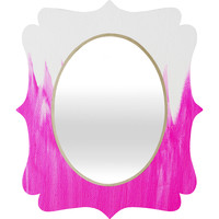Allyson Johnson Pink Brushed Quatrefoil Mirror