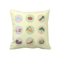 Vegetables Pillows from Zazzle.com