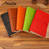 RuiZe leather travel journal note book travelers notebook A6 vintage sketchbook with three kinds paper korean stationery