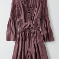 AEO Women's Lace-up Peasant Dress