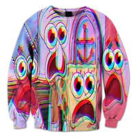 Trippy Spongebob Crewneck