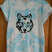 Tie dye wolf tee from Opaque