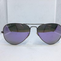 Ray-Ban Aviator RB 3025 167/1R Polarized Sunglasses Gold w/Lilac Lens 58-14 135