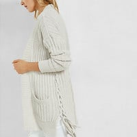 lace-up side cover up