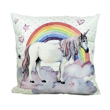 Unicorn | Rainbow | Magic | Unicorn Decor | Pillow Cover | Home Decor | Throw Pillows | Happy Birthday | Kids Room Decor | Room Decor