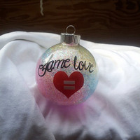 Personalized Same Love Gay, Lesbian, LGBTQ ornament personalized with Vinyl