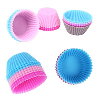 12pcs Mini Silicone Cup Cake Pan Mold Muffin Cupcake Form to Bake Kitchen Baking Tools for Cakes