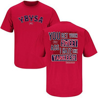 Boston Red Sox Fans. YBYSA. You Bet Your Sweet Ass Red T-shirt (Large)