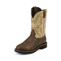 Justin Women's WKL4660 Stampede Brown Waxy Boots
