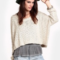 Above The Clouds Cropped Sweater