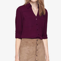 Original Fit Convertible Sleeve Portofino Shirt from EXPRESS