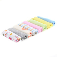 8pcs/set Baby  Printed Washcloth Cotton