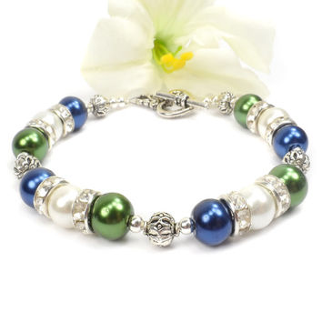 Pearl Birthstone Bracelet: Mothers Day Gift For Mom, Grandmother