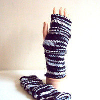 Fingerless Gloves Grey Mittens Arm Warmer Men Women Teen to Adult Fall Winter Clothing Winter Accessories