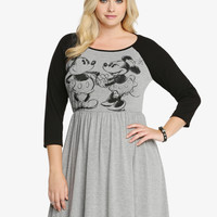 Disney Mickey & Minnie Raglan Dress