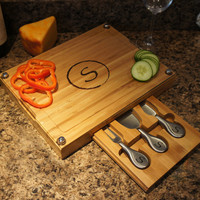 "Design's Grand Elegance Cutting Board with Personalization Options, Design Options, and Font Selection (Each 13"" x 10"")"