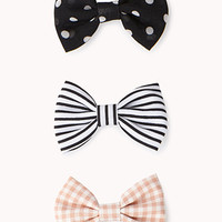 Iconic Bow Hair Clip Set