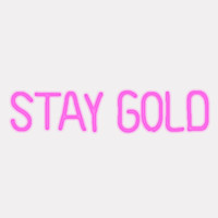 STAY GOLD LED Neon Sign
