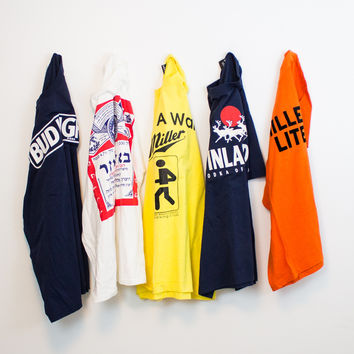 Mystery (ALCOHOL) Vintage Graphic Oversized T Shirts