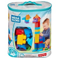 Kids, Toddlers Educational Mega Bloks Classic 80-Piece Big Building Blocks Bag