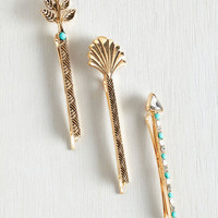 Vintage Inspired Art Deco-ration Hair Pin Set by ModCloth
