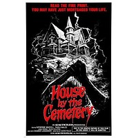 1981 THE HOUSE BY THE CEMETERY movie poster HORROR THRILLS CHILLS 24X36