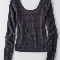 AEO Women's Textured Ballet Shirt