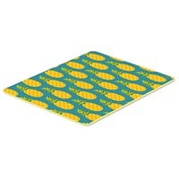 Pineapples on Teal Kitchen or Bath Mat 24x36 BB5145JCMT