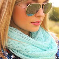 Round It Up Scarf: Mint           - One