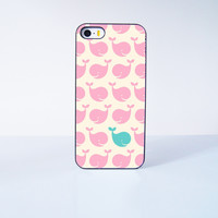 Pink Cute Whale Plastic Case Cover for Apple iPhone 5s 5 6 Plus 6 4 4s  5c