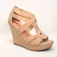 Women's Fashion Strappy Open Toe Platform Wedge Sadal Shoes NEW Size 5 - 10