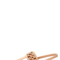 Bamboo Morning 74 Nude Knotted Thong Sandals