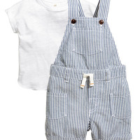 H&M T-shirt and Bib Overalls $24.99
