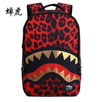 Cool Backpack school CH1505-D2 New Fashion cicada tiger middle Students School Backpack Trend cool Shark Female Backpack AT_52_3