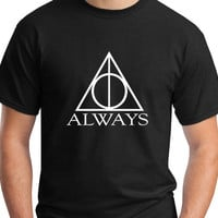 Harry Potter T-Shirt Graphic Print Deathly Hallows Always