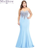 Cheap Bridesmaid Dress Plus size Applique Mermaid Prom Dresses Formal Gown Wedding Party Dresses Elegant Long Bridesmaid Dresses